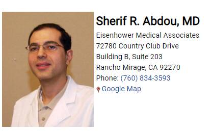 Abdou Sherif R, MD